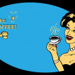 Coffee Lover vector poster — Stock Photo #1897163