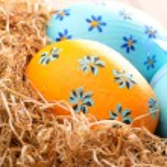 Easter eggs in the nest — Stock Photo #13366193