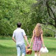 Couple at picnic — Stock Photo