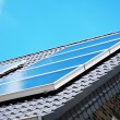 Stock Photo: Solar panel on the rooftop