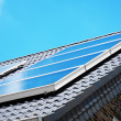 Solar panel on the rooftop — Stock Photo