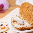 Heart shaped cake — Stock Photo