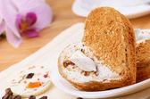 Heart shaped cake — Stock Photo