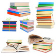 Stack of books isolated on white — Stock Photo
