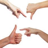 Human palm gestures — Stock Photo