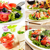Greek salad set — Stock Photo