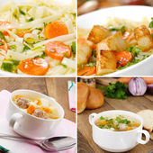 Noodle soup set — Stock Photo