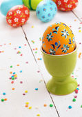 Painted easter eggs — Stockfoto