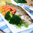 Baked trout — Stock Photo
