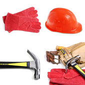Carpenter tool-belt — Stock Photo