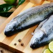 Stock Photo: Raw trout
