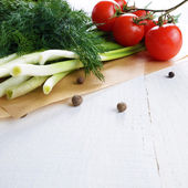 Fresh organic vegetable set — Stock Photo