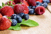 Assorted berries on the table — Stock Photo