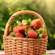Stock Photo: Strawberries in basket