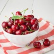 Stock Photo: Ceramic Bowl of organic Cherries