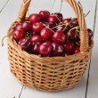 Organic Cherries — Stock Photo
