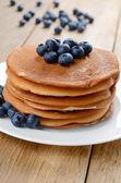 Ready to eat pancakes — Stock Photo