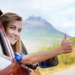 Driver woman — Stock Photo
