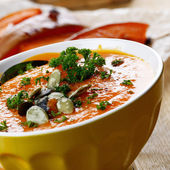Soupe de potiron faite maison rustique — Photo