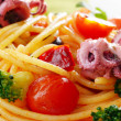 Stock Photo: Spaghetti with seafood