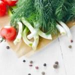 Fresh organic vegetable set — Stock Photo #43750447