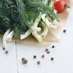 Fresh organic vegetable set — Stock Photo #45849873
