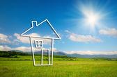 House real estate symbol concept — Stock Photo