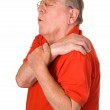 Old man with rheumatic pain — Stock Photo