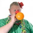Clown with balloon — Stock Photo #1702524