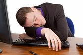 Sleeping businessman — Stock Photo