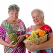 Senior women with fruit — Stock Photo