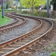 Tram rails — Stock Photo