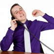 Businessman calling — Foto de Stock