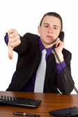 Businessman giving refusal — Stock Photo