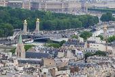 Blick vom Eiffelturm in paris — Stockfoto