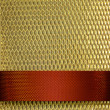 Royalty-Free Stock Photo: Gold background with rich red ribbon