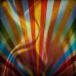 Stock Photo: multicolor sunbeams grunge background