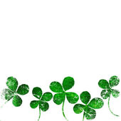 Grunge leaf clover — Stock Photo