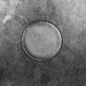 Plaque métal ronde — Photo