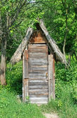 Wooden toilet house — Stock Photo