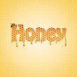 Text honey — Foto Stock