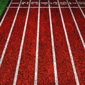 Red running tracks — Stock Photo