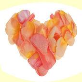 Herzform aus rosenblüten gemacht — Stockfoto