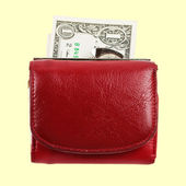 Red purse — Stock Photo