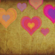 Grunge colorful hearts — Stock Photo