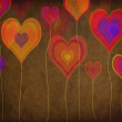 Grunge colorful hearts — Stock Photo #33100691