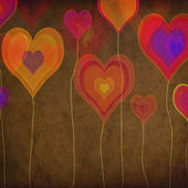 Grunge colorful hearts — Photo
