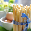 Preparing asparagus for appetizer — Stock Photo