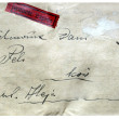 Envelope from Second World War time from Poland — Stock Photo
