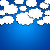 White clouds on blue background — Stock Photo